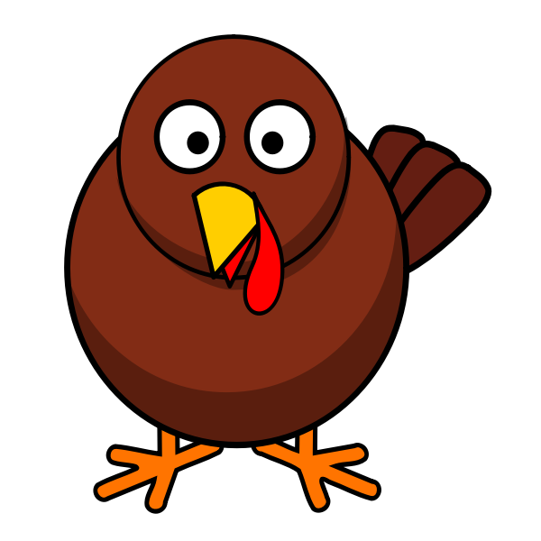 Funny turkey vector illustration