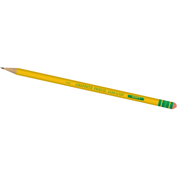 Graphite pencil vector image