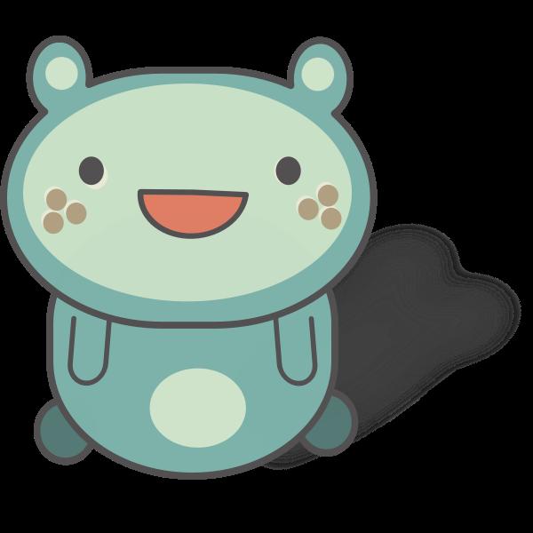 Blue cartoon cat vector graphics