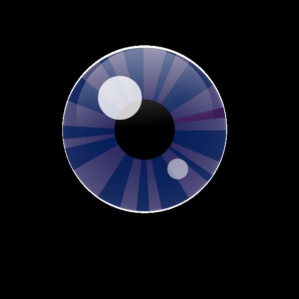 Vector illustration of blue eye iris