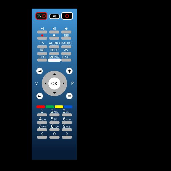 Blue remote