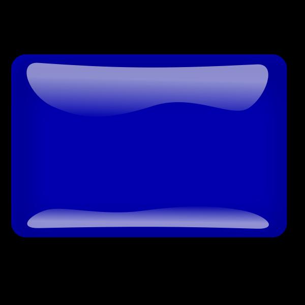 Gloss blue square button vector illustration