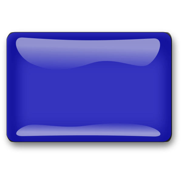Gloss dark blue square button vector drawing