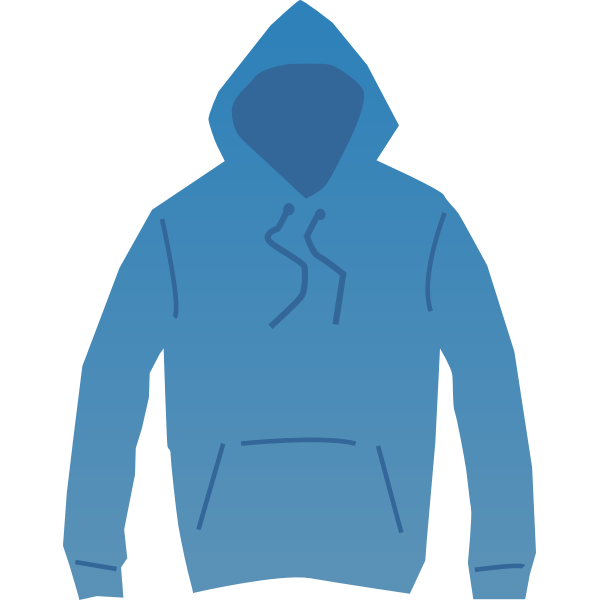 Blue hoodie vector drawing