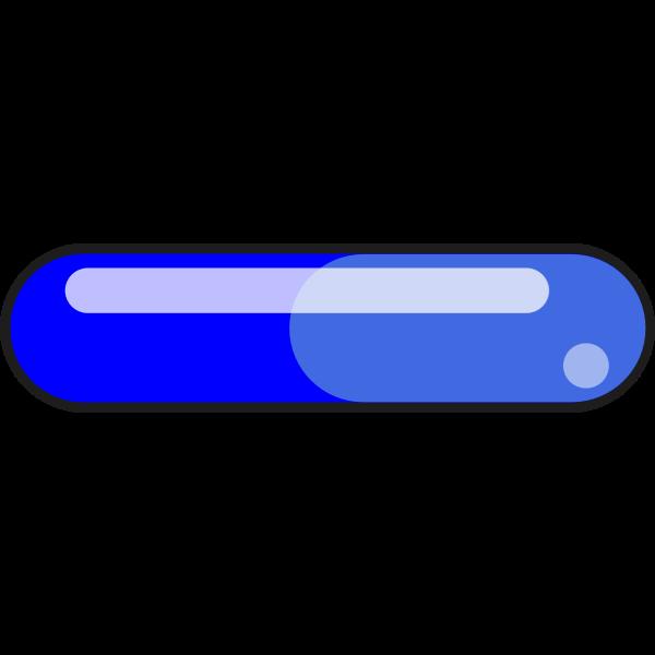 Blue pill-shaped button