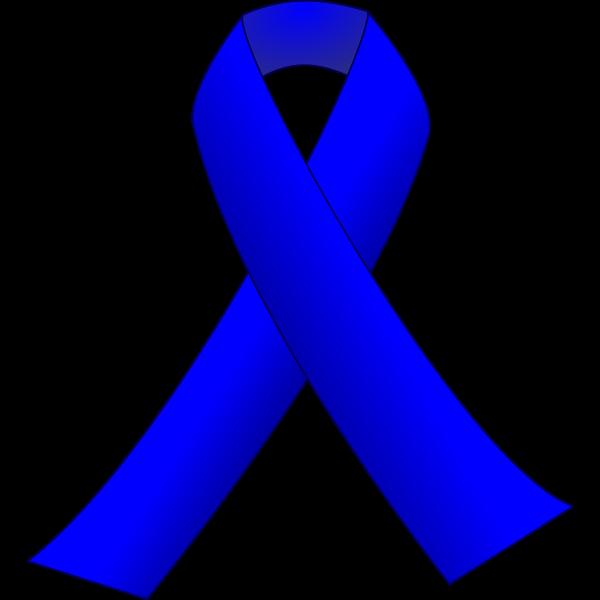 Blue ribbon vector  clip art