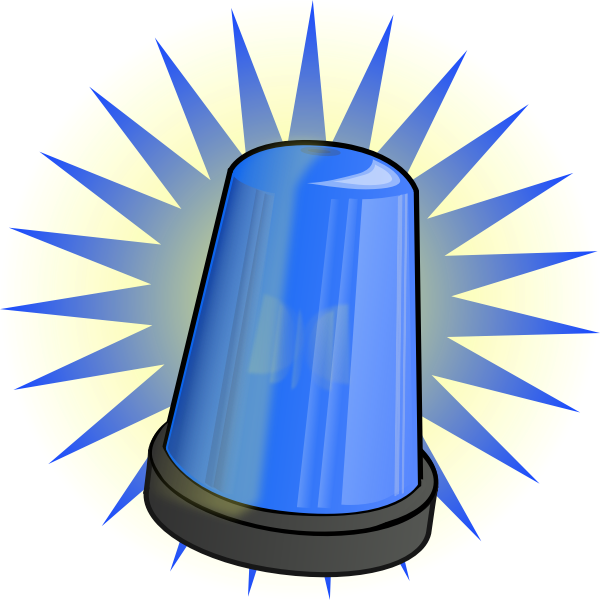 Blue signal light vector clip art