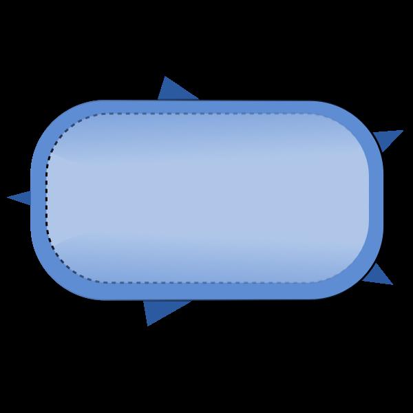 Blue button