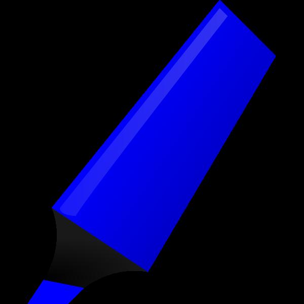 Vector clip art of blue highlighter