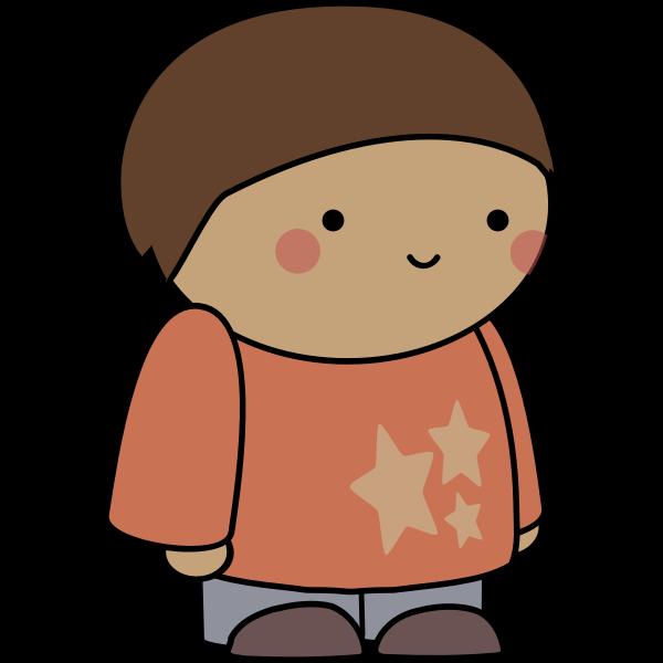 Blushing comic character