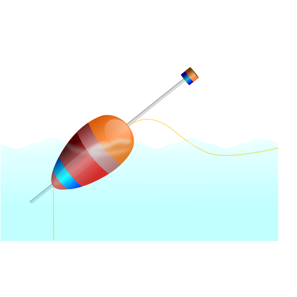 Vector image of a fishing cork