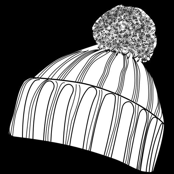 Vector illustration of winter bobcap