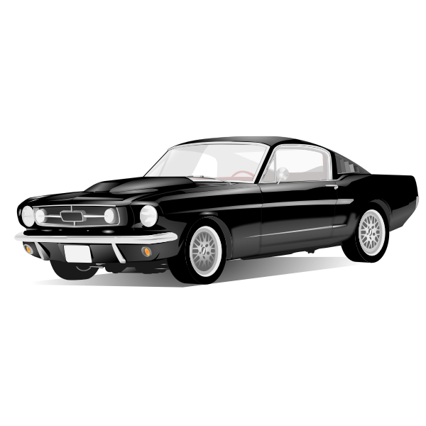 American sport car vector drawing