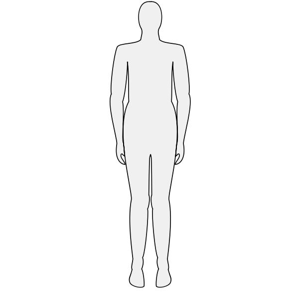 Male body silhouette vector graphics