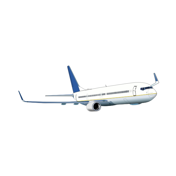 Vector image of Boeing 737