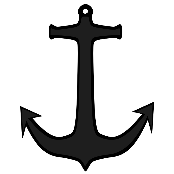 Simple anchor silhouette vector image