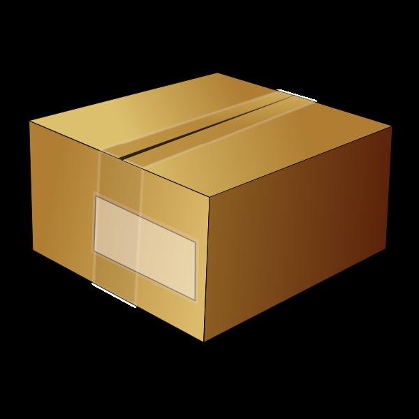 Vector image of closed cardboard box