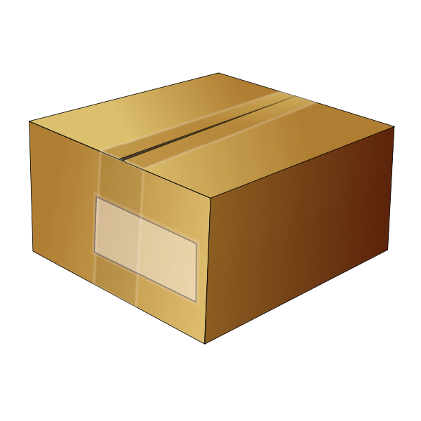 Vector image of closed cardboard box