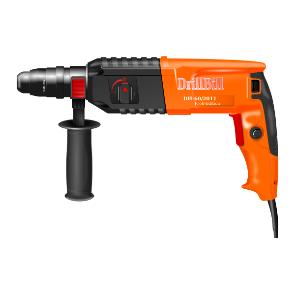 Photorealistic vector image of an electronic drill