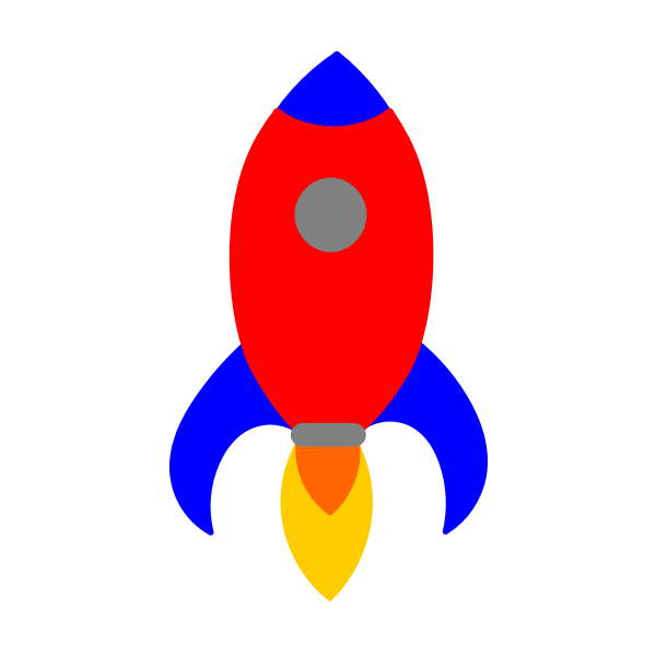 Red and blue rocket