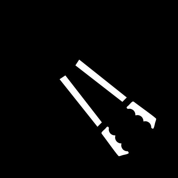 Bolt cutter tool vector clip art