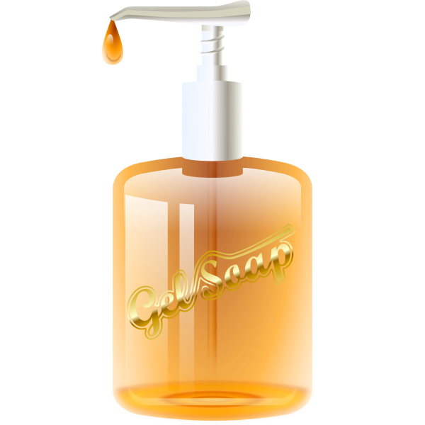 Vector image of gel soap dispenser