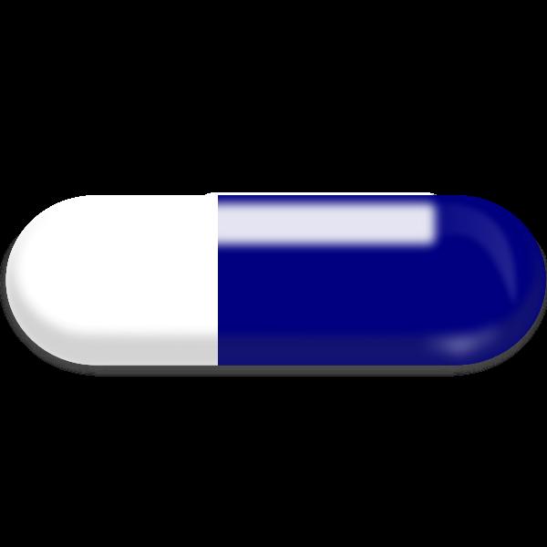 Illustration clip art of a pill