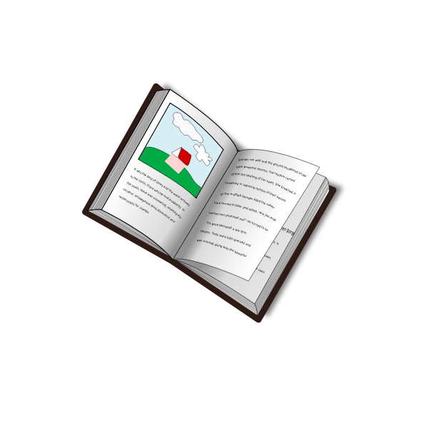 Vector drawing of remixed blank book by using text to path picture and text book