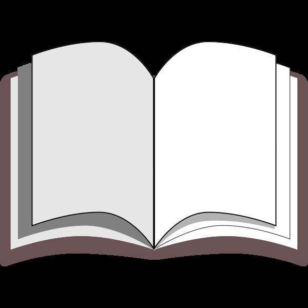 Open book vector clip art