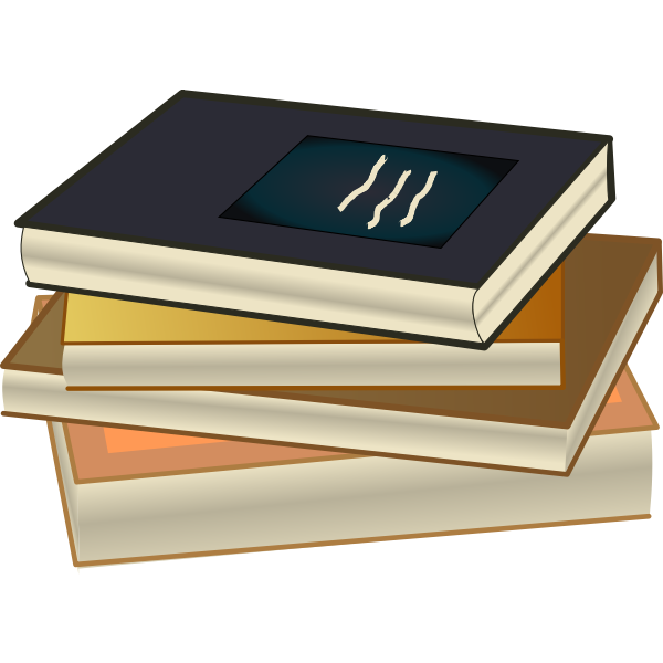 Pile of books color drawing