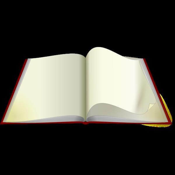 Open book vector graphics