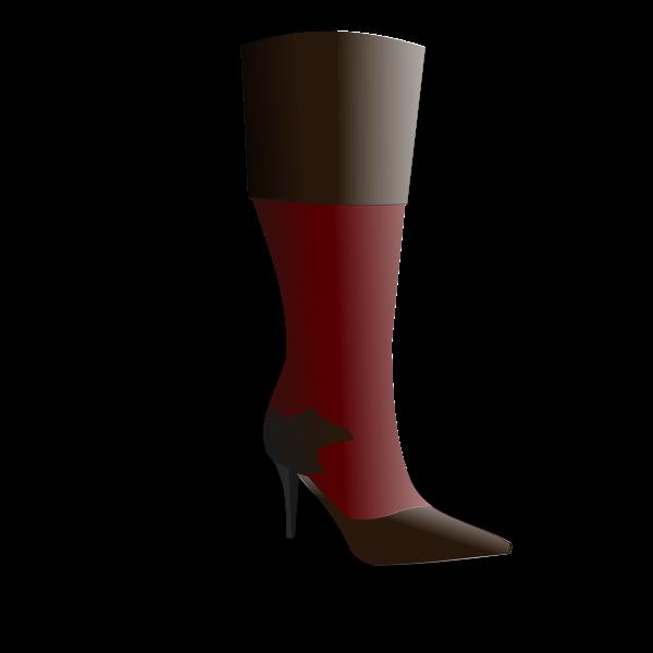 Women's boot vector image