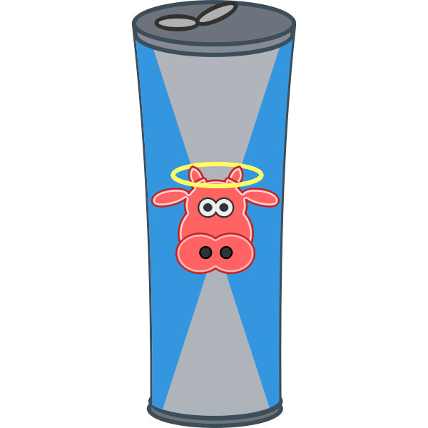 Vector illustration of simple cartoon energy drink can