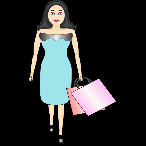 Female shopper vector image