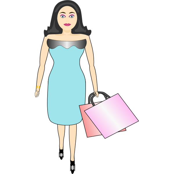 Female shopper vector image