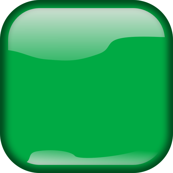 Green geometrical button vector image