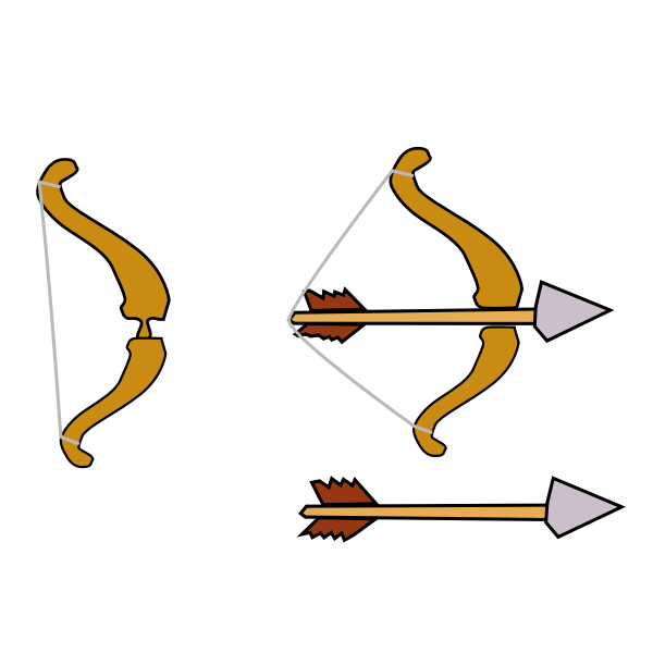 Bow and arrow made for a game vector image