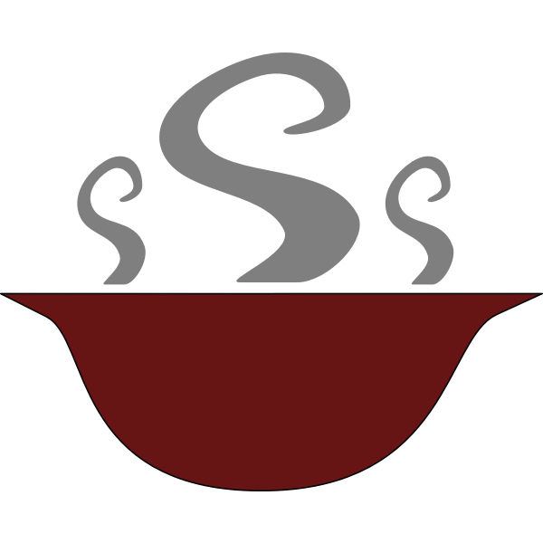 Bowl of steaming soup vector illustration