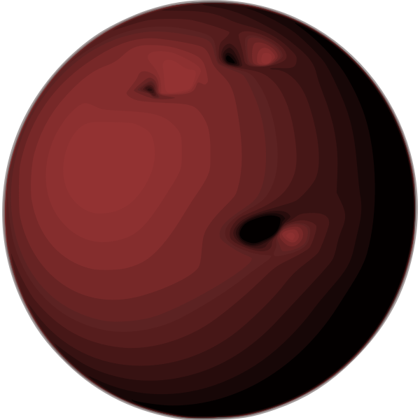 Vector of a bowling ball