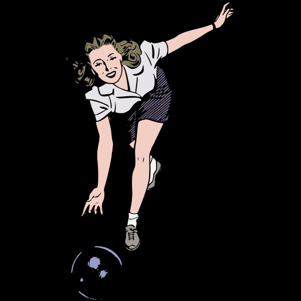 Bowling woman
