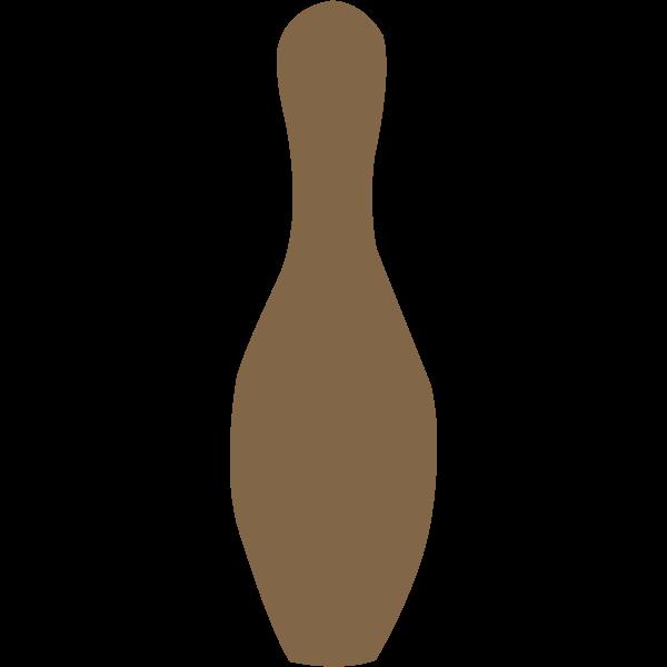Brown bowling pin vector image