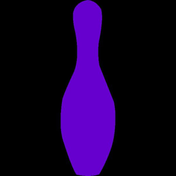 bowling pin opurple