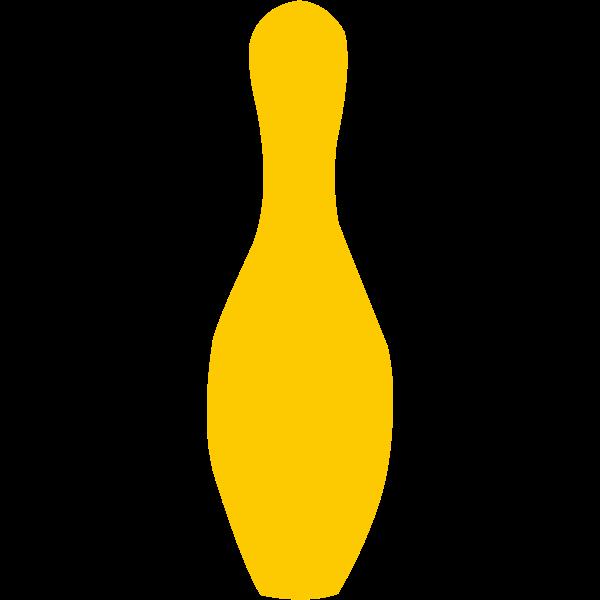 Yellow bowling pin vector illustration