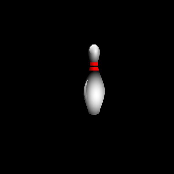 Bowling pins and ball vector clip art