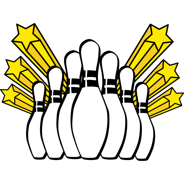 Bowling pins icon vector image