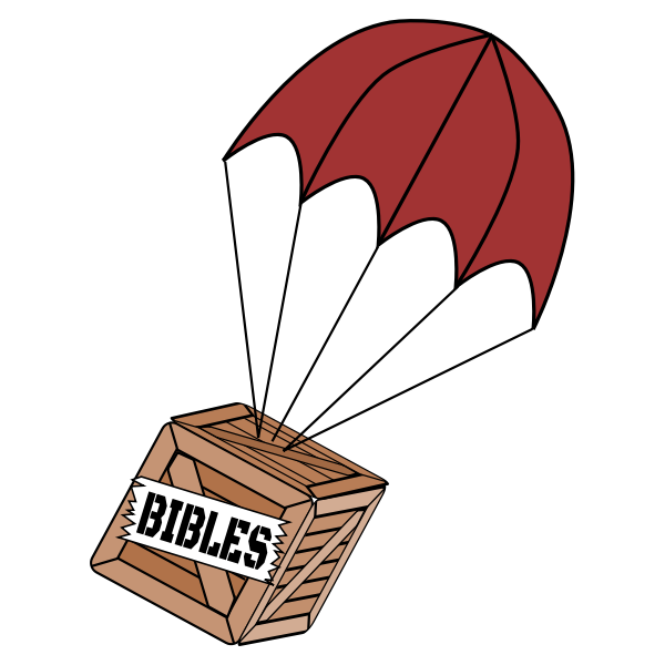 Parachute box delivery vector image