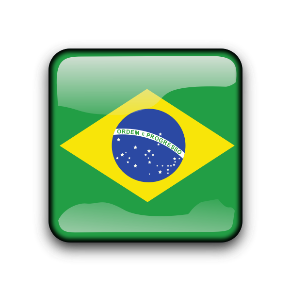 Glossy Brasil vector button