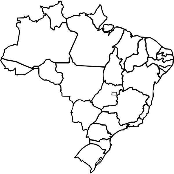 Vector map of Brazil regions