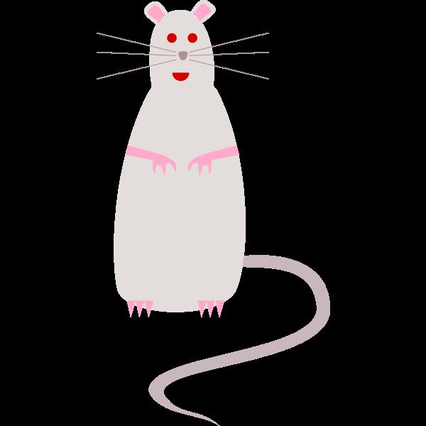 Vector drawing of rat - cartoon style