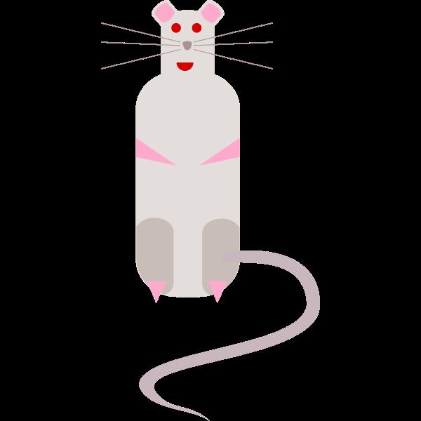Vector image of cartoon rat
